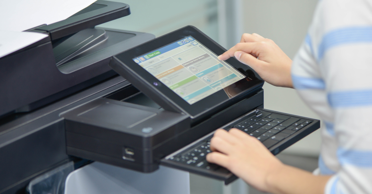 entering password on printer